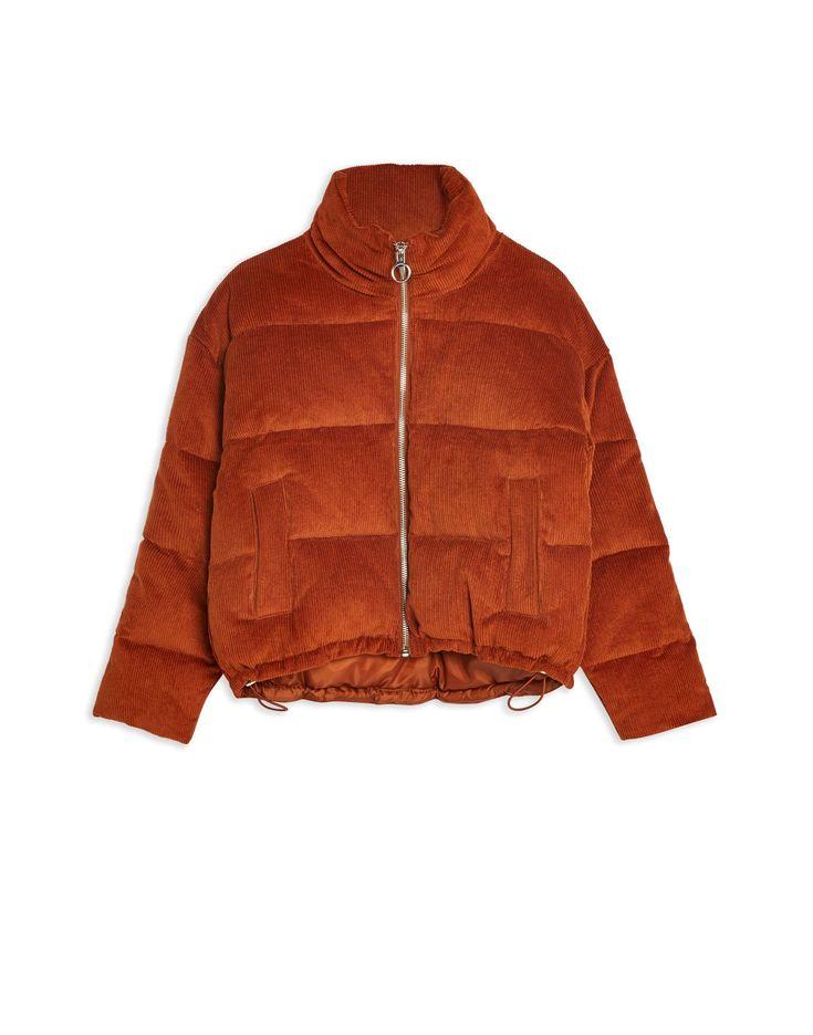 Topshop Corduroy Puffer Jacket - Synthetic Padding - Women ...