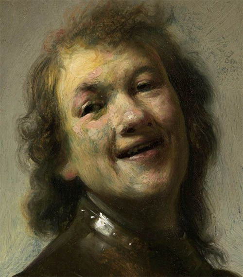 Rembrandt: Self portrait, laughing  http://annabregmanportraits.co.uk/unusual-self-portraits/