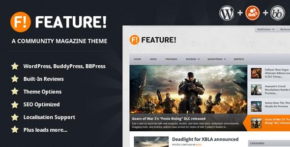 Feature! A Community Magazine Theme