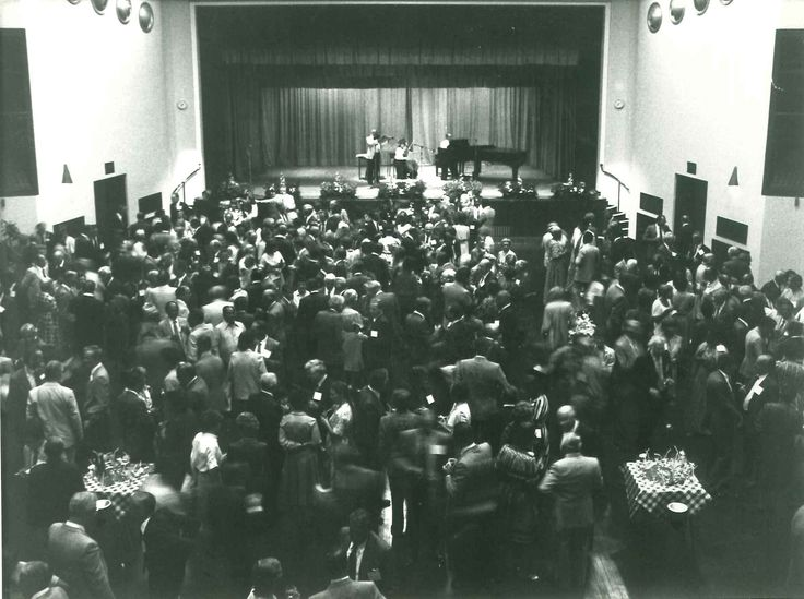 A concert in the Great Hall at Aston University, undated.