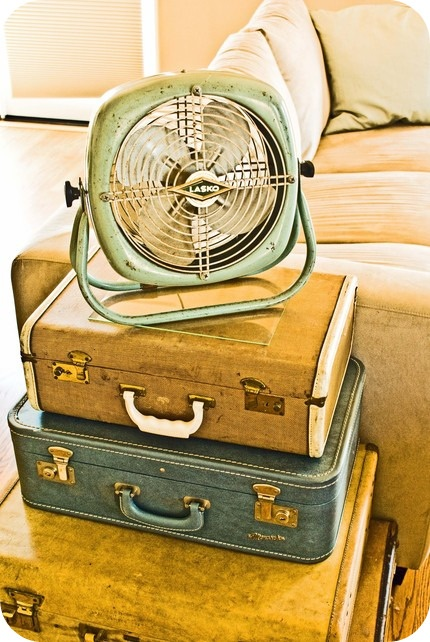 the many miles these bags have traveled and the fan-look at the fan