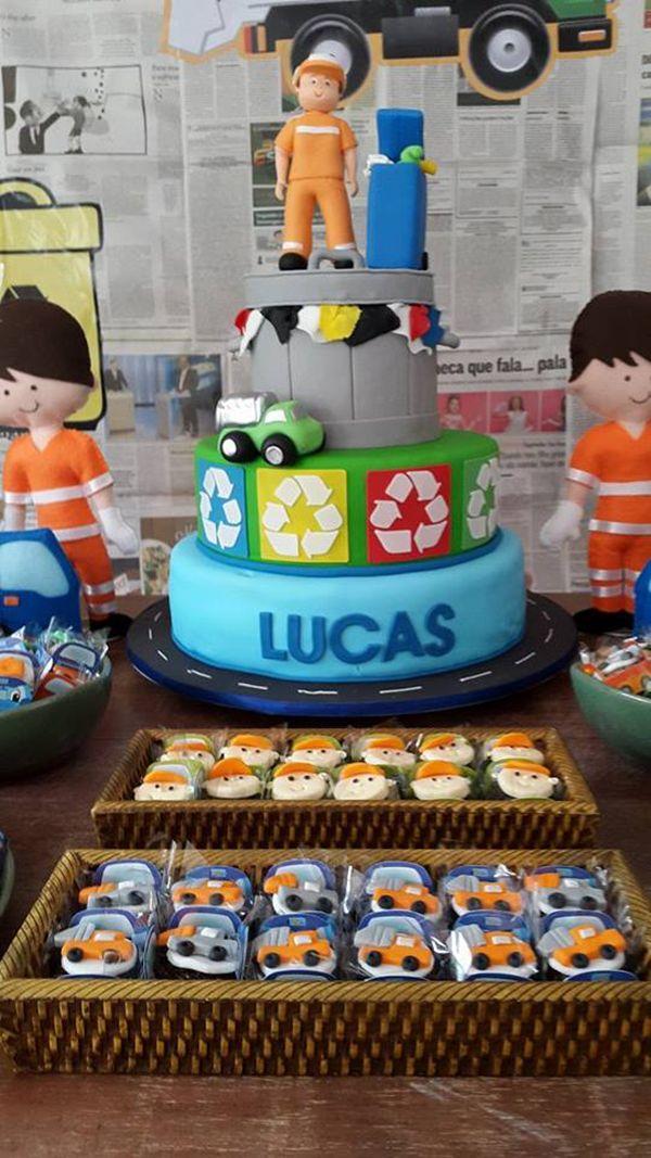 O inusitado aniversário do Lucas: tema caminhão de lixo | Casamenteiras