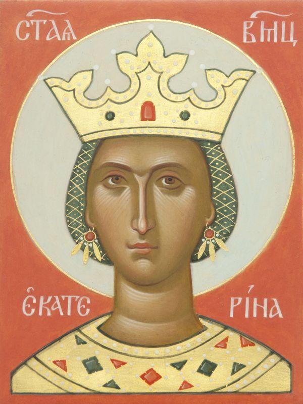 Perushyvät kasvot! Icon of Saint Catherine