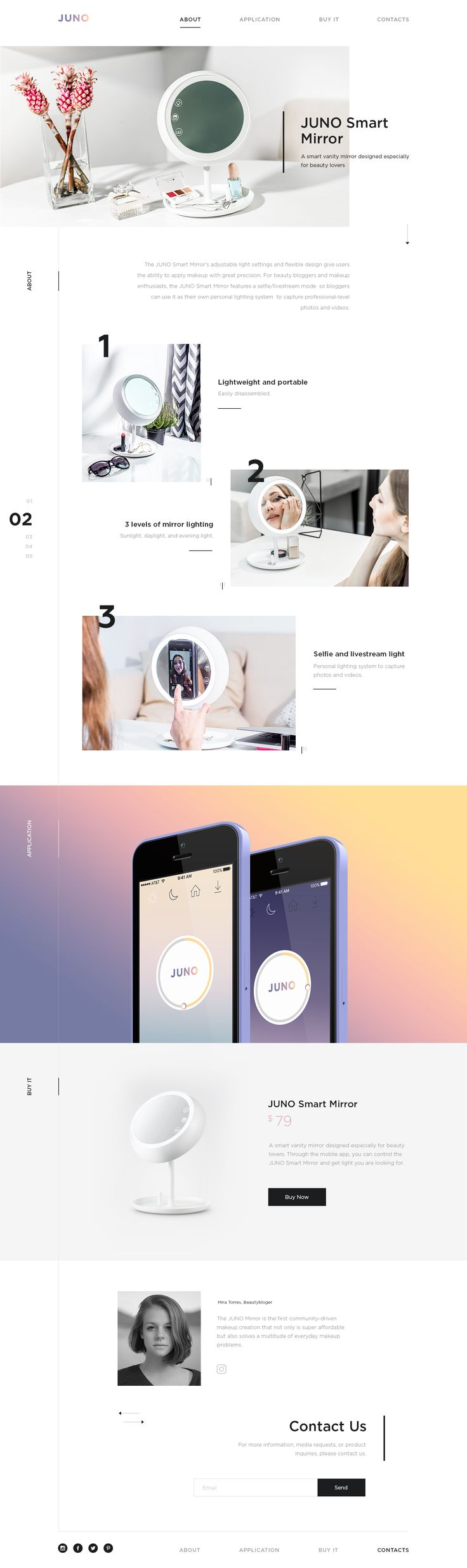 Single product landing page design