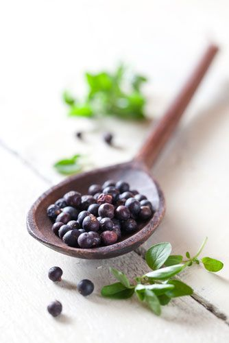 Foot-Refreshing Soak with Juniper Berries—just what you need after a day on your feet! Juniper berries are naturally antiseptic.