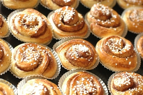 #Cinnamonbuns are one of Sweden's most loved pastries. No #fika is complete without them. #VisitSweden Photo by: Lotta Thiringer #PinStockholm
