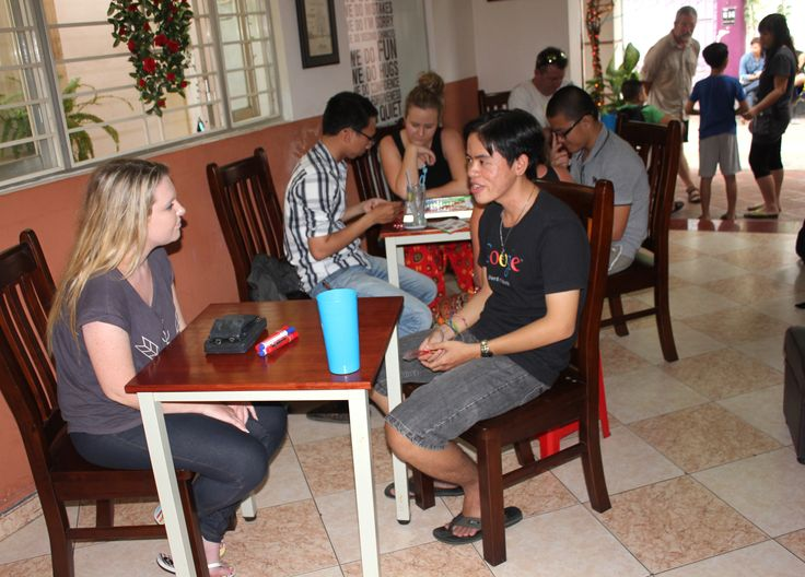 Sharing the gift of conversation #VietnamSchoolTours #EnglishSpeakingCafe