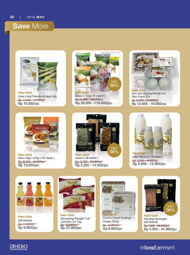 Dapatkan diskon hingga 30% dengan membeli produk-produk Hero Gold hanya di Hero Supermarket. Solusi berbelanja Anda.