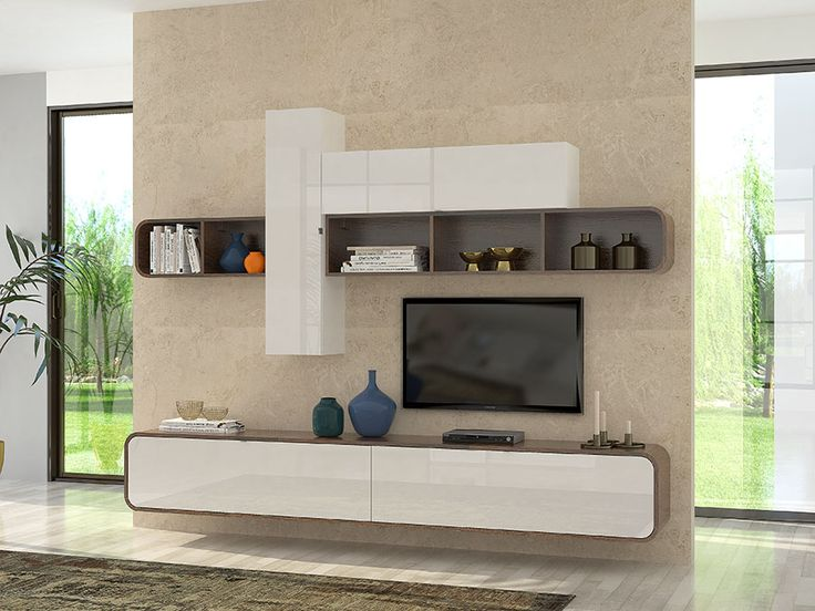 25 best ideas about meuble tv blanc on pinterest unit s for Meuble tv contemporain