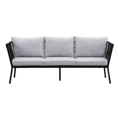 Le Sud loungebank Viviers 3-zits - mat zwart