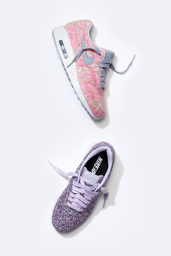 Pound the pavement in the pastel printed Air Max 1. #LibertyLondon #Nike