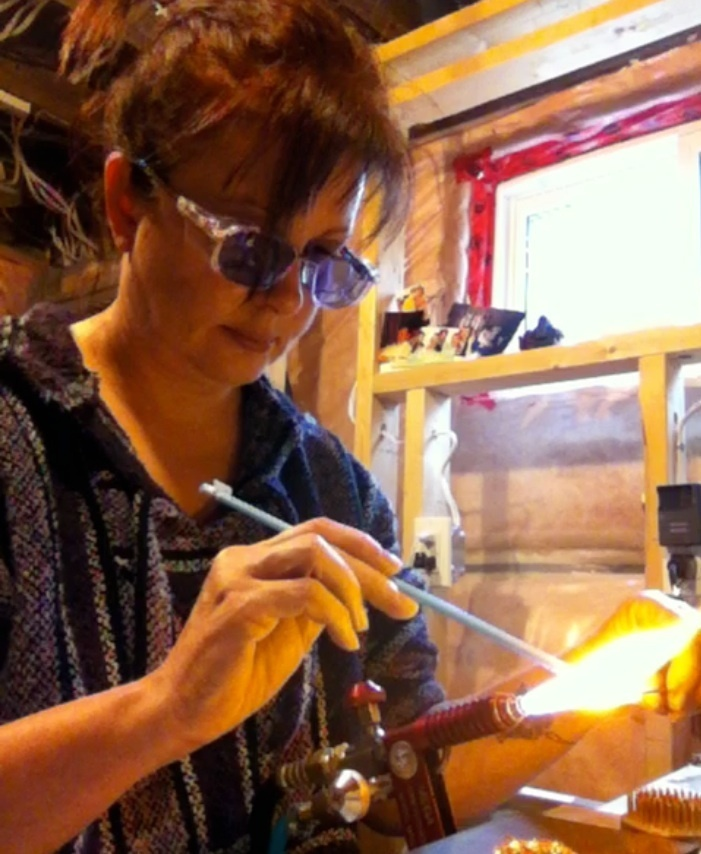 Me playing with molten glass! Good times...