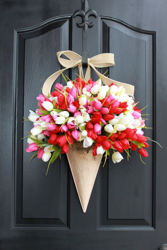 Hey, I found this really awesome Etsy listing at https://www.etsy.com/listing/177990471/valentines-wreath-spring-wreath-tulip