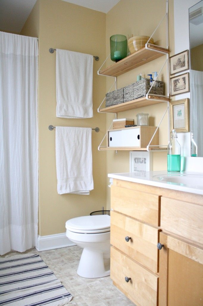 A Lovely Bathroom Many Pieces For Ikea And Spray Paint Frosted Gl 5 Interior Ideas Upstairs Bathrooms Renos