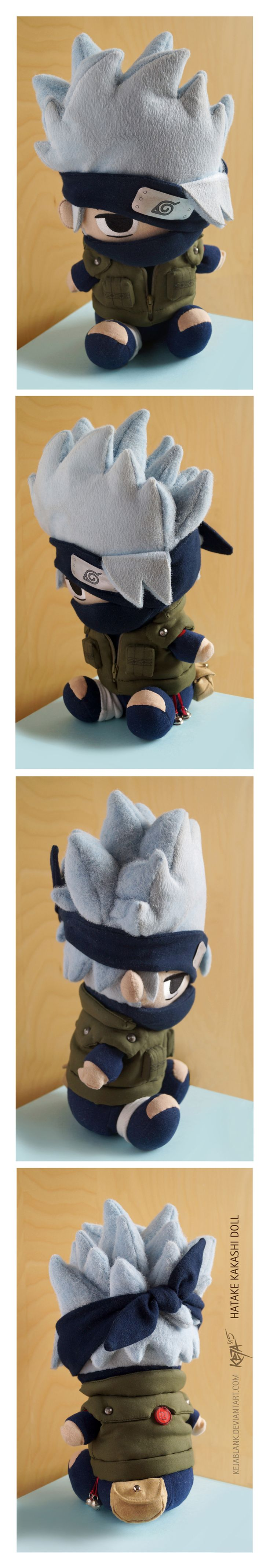 Kakashi doll plush plushie by Keja Blank Art