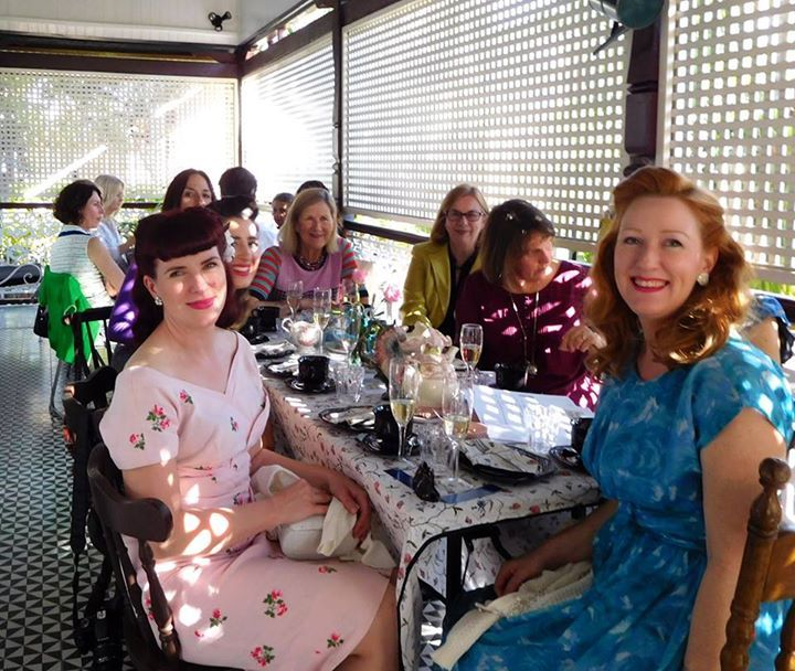 The 80 guests at High Time for a Cure yesterday at the beautiful Franklin Villa in Highgate Hill raised more than $5000 for research into women's cancers at QIMR Berghofer Medical Research Institute. #hightimeforacure #vintage #charity #hightea #4101 #Brisbane