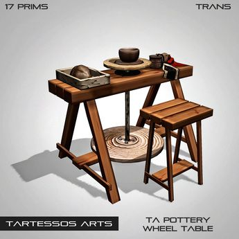 ::TA Pottery Wheel Table, I will have manual foot operated pottery wheel stations! And a few electric.