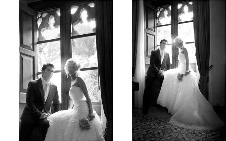 Bride & groom at Villa Cimbrone, Ravello, Italy