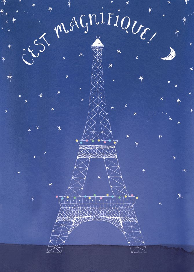 It is trés, trésmagnifique, indeed....This Is Beautiful, C Beautiful Estes, Tours Eiffel, Paris At Night, Eiffel Towers, Paris France, Greeting Cards, Posters, Art Illustration