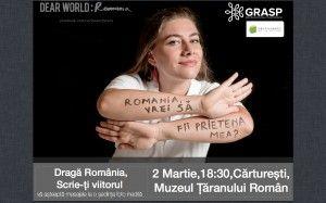 Dear Romania la Carturesti MTR pe 2 martie