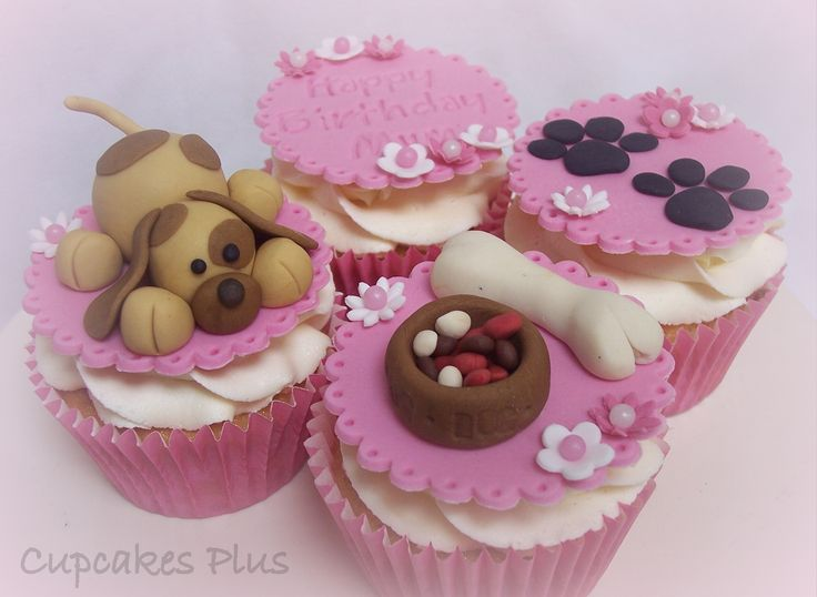 Puppy themed cupcakes - Cute puppy cupcakes for a dog lover!