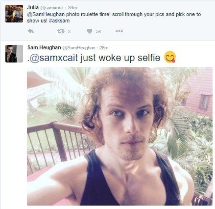 Here is Part 2 of Sam Heughan's Twitter Q and A he did an hour ago View the rest of the Q and A after the jump!
