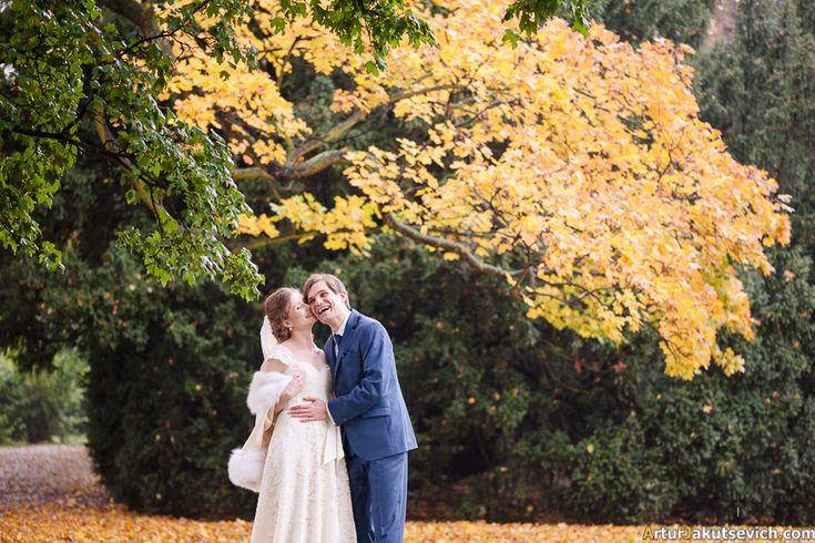 Autumn wedding in Prague