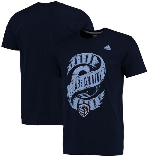 Sporting Kansas City adidas Club & Country climalite T-Shirt - Navy - $27.99