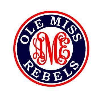 Ole Miss Rebels monogram instant download cut file - SVG DXF EPS ps studio3 studio (monogram font sold separately)