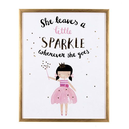 She Sparkles Wall Art
