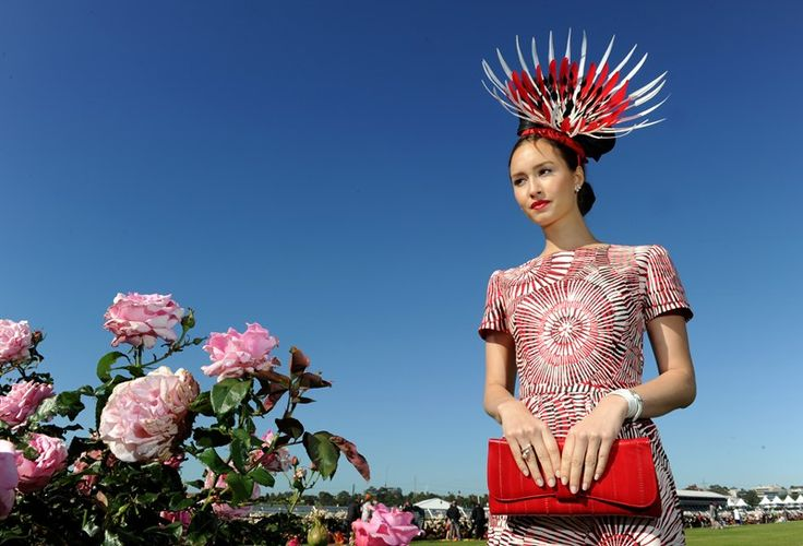 Raw Cloth, Merrepen Arts (Marita Sambono) and Chloe Moo - winners of the Fashion on the Field, Melbourne Cup 2013