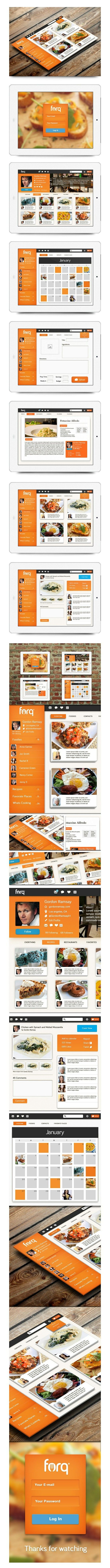 Nice #Web #Orange #Design