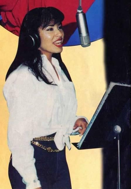 "Selena Quintanilla Perez....I can see now that they took this picture and modeled Jennifer Lopez for the ""I Could Fall in Love"" recording scene."