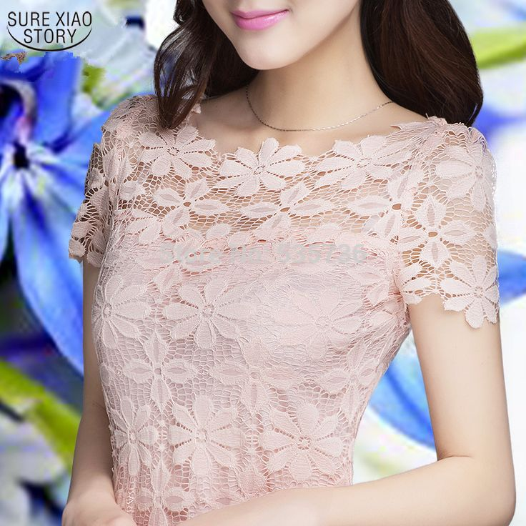 2015 New spring and autumn Short Sleeve Tee Shirt Top For Women Clothing, Women Lace Blouse Sexy Floral Sheer Blouses M-XXXXXL