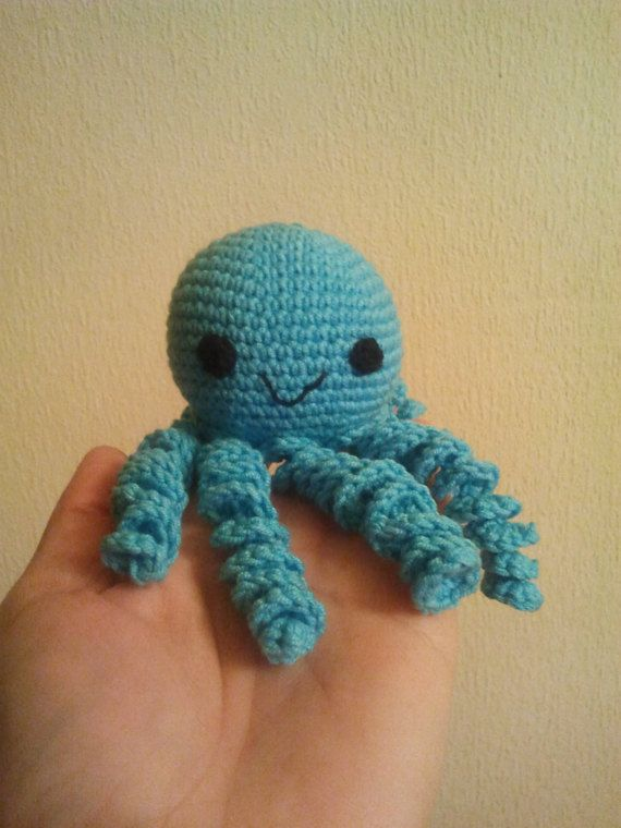 Cute Octopus Octopus Toy Stuffed by DianaCrochetToys on Etsy