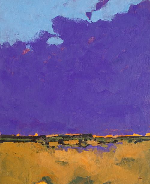 Paul Bailey Purple sky 18 x 22 inches 2013