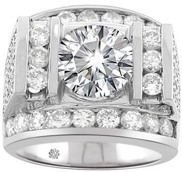 4.95 Carat Achilles Mans Diamond 14Kt White Gold Wedding Band
