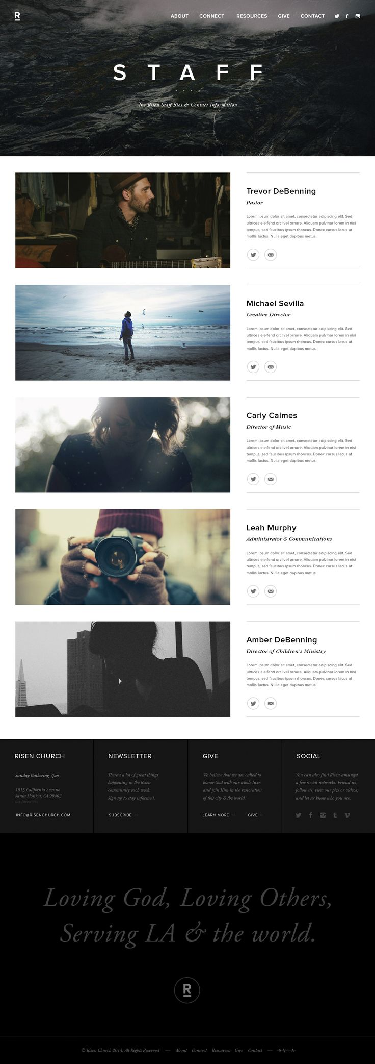 This layout is everything #sexy #web #design