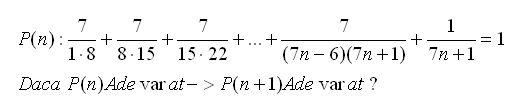 formule online probleme si exercitii rezolvate: Inductie matematica exercitiu rezolvat 14
