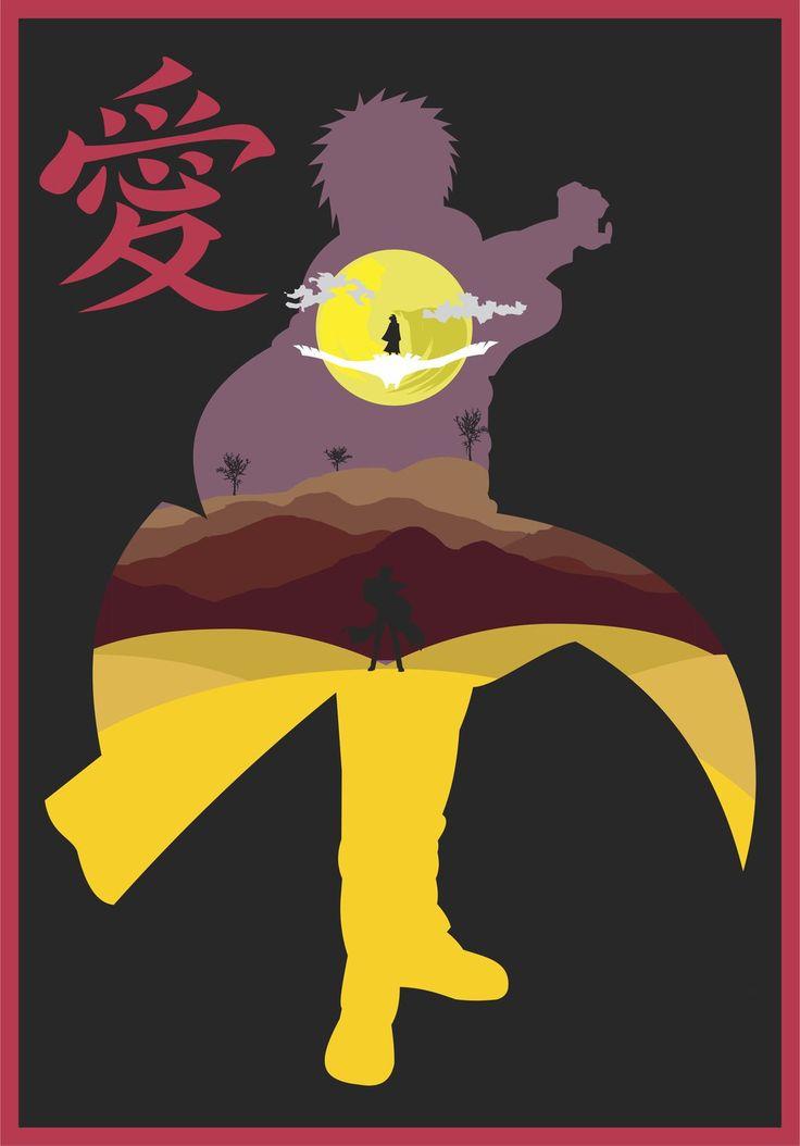Gaaranaruto shippuden minimalist poster by