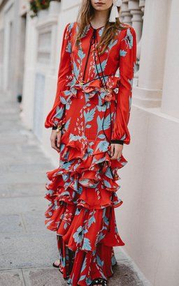 Silk Georgette Dress by Johanna Ortiz