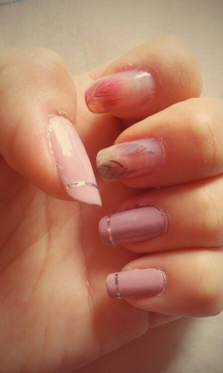 Feather nails.