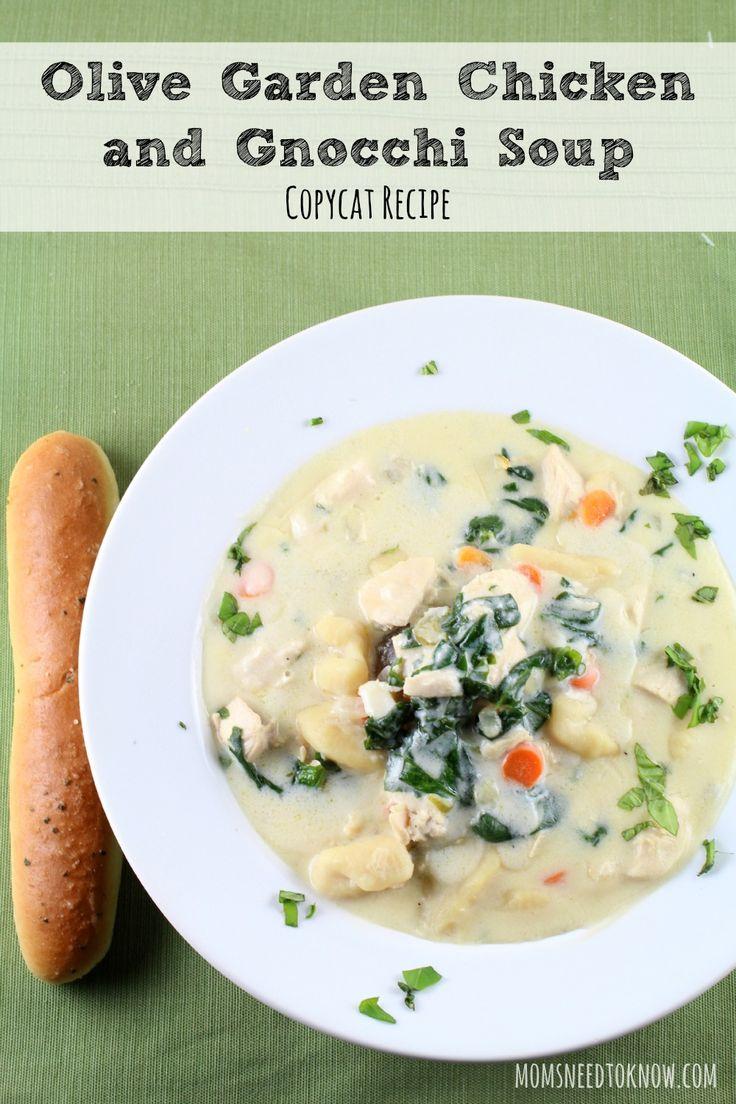 Copycat Olive Garden Chicken and Gnocchi Soup Recipe