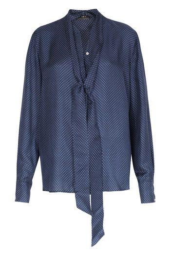 SET Gepunktete Schluppenbluse im Seide-Viskose-Mix  bei myClassico - Premium Fashion Online Shop