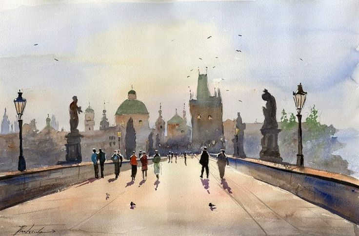 Akwarela - Prandzioch Jacek: Praga