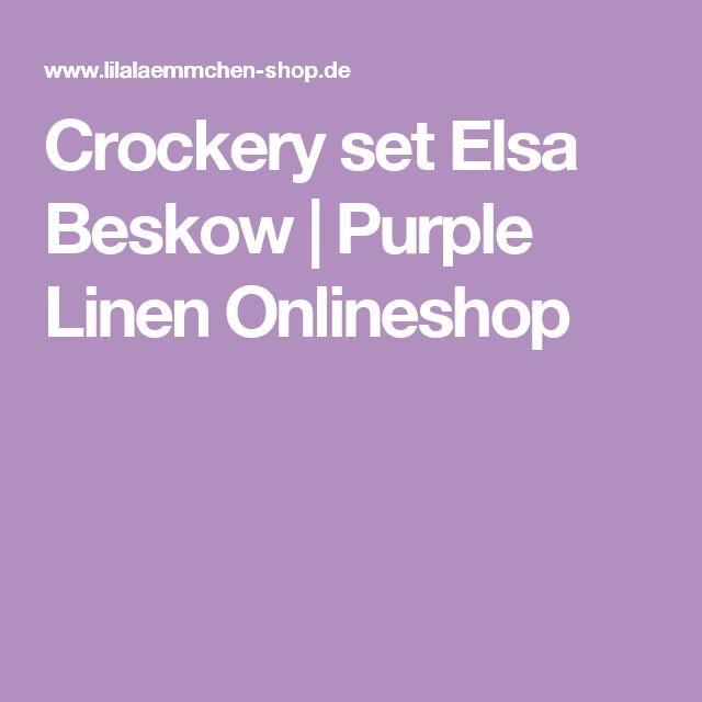 Crockery set Elsa Beskow    Purple Linen Onlineshop