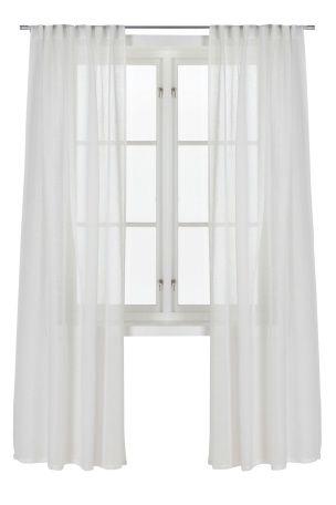Valkoiset Ellos Home Emelie-piilolenkkiverhot, 2/pakk.