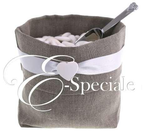 Sacco Confettata Lino Scuro - Shop per Colore - Marrone - accessori e gadget per matrimoni e feste - E-speciale