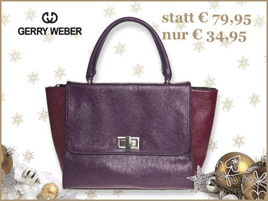 Sucht Ihr noch ein Weihnachtsgeschenk? Diese Damentasche von Gerry Weber ist sicher eine gute Wahl. http://www.trendor.de/de/gerry-weber/handtaschen-taschen/gerry-weber-mission-tasche-violett-083338563/ #GerryWeber   #Tasche   #Geschenk   #Weihnachten   #trendor