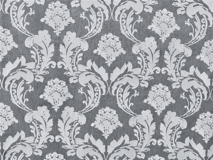 Gray & White Embroidery Damask Curtain Fabric By The Yard Upholstery Fabric Wholesale Drapery Fabric Window Treatment Sofa Fabric For Sale by FabricMart on Etsy